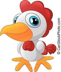 Cute rooster cartoon posing
