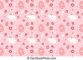Cute seamless pattern with rabbit cartoon background