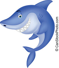 Cute shark cartoon