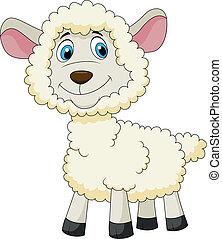 Cute sheep cartoon - Vector illustration of Cute sheep...