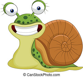 Cute snail cartoon - Vector illustration of Cute snail...