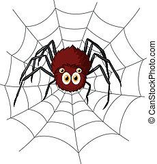Cute spider cartoon - Vector illustration of Cute spider...