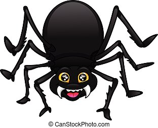 cute spider cartoon on a white background