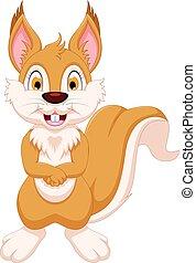 cute squirrel cartoon standing