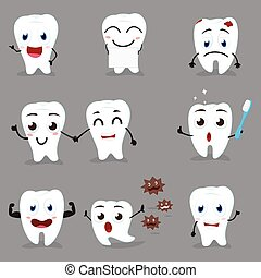 Cute Tooth cartoon collection set