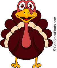 Cute turkey cartoon - Vector illustration of Cute turkey ...