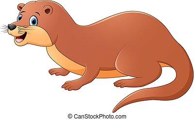 Illustration of Cute Weasel Animal