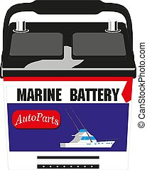 Vector Illustration of cylinder battery. Heavy duty text ...
