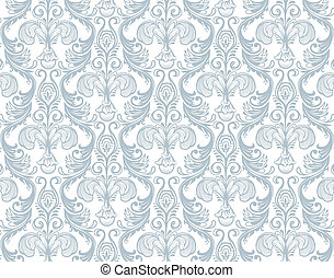 Damask pattern - Vector illustration of Damask pattern