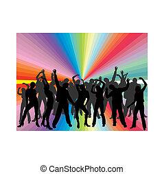 dancing people - vector illustration of dancing people ...