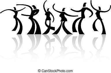 dancing people - Vector illustration of dancing people...