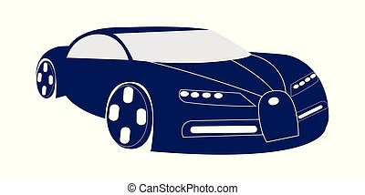 Vector illustration of dark blue super car
