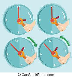 Vector illustration of daylight saving time