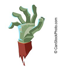 vector illustration of Dead Man green arm