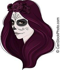 Dead woman - Vector illustration of Dead woman