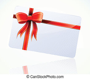 gift card - Vector illustration of decorated gift card with ...