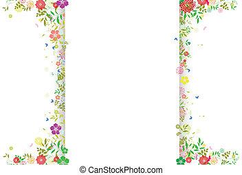 Decoration of Flower spring - vector illustration of ...
