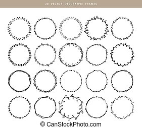 Decorative frames 20 set