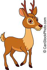 Deer cartoon - Vector illustration of Deer cartoon