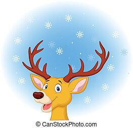 Deer head cartoon