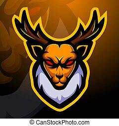 Deer mascot esport logo design