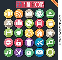 Desktop Flat Icons Set