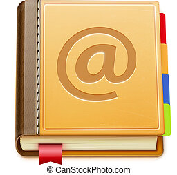 address book - Vector illustration of detailed address book...