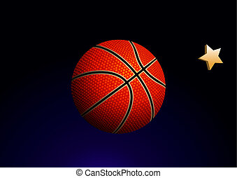basketball - Vector illustration of detailed basketball ball...