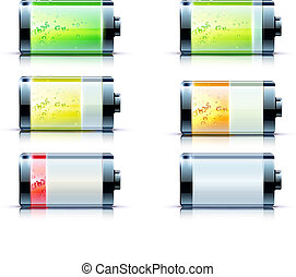 battery level indicator - Vector illustration of detailed...