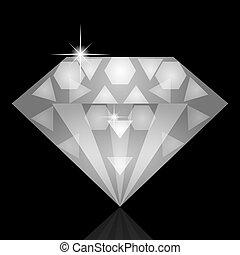 Vector illustration of diamond