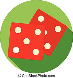 Vector illustration of dice