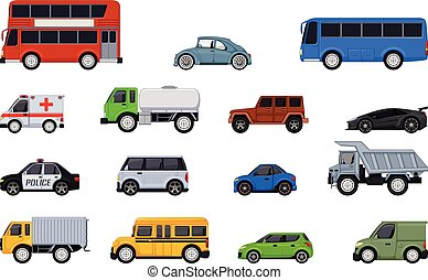 different kinds of car cartoon