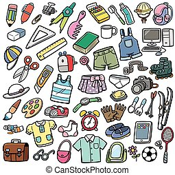 Different objects - Vector Illustration of Different objects...