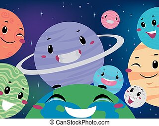 Different Planet Mascot on Universe