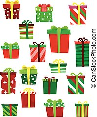 Different Set of Gifts - Vector Illustration of Different...