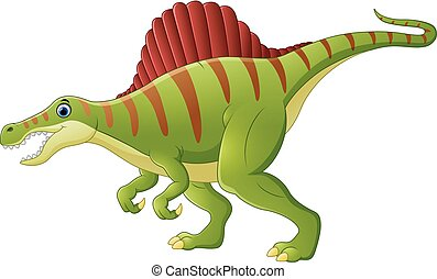 Dinosaur spinosaurus cartoon - vector illustration of...
