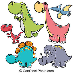 Dinosaurs - Vector illustration of Dinosaurs cartoon...