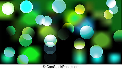 disco lights - Vector illustration of disco lights dots ...