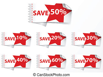 Discount Labels tags - Vector Illustration of Discount...