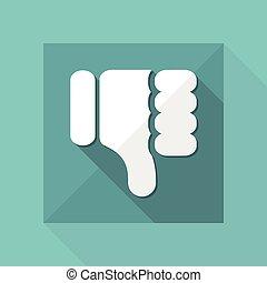 Vector illustration of dislike icon