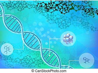 DNA concept background