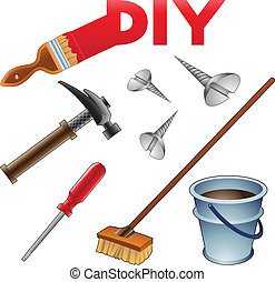 Vector Illustration of Do it Yourself Icons