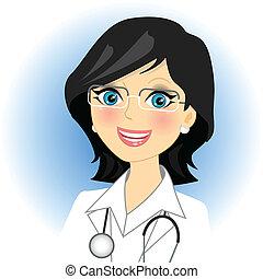 Vector illustration of doctor