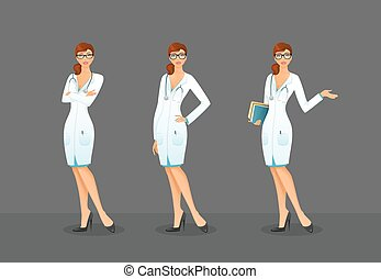 Doctor in various poses