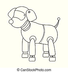 Vector illustration of dog and robotic icon. Collection of dog and automation stock symbol for web.
