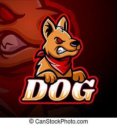 Dog esport logo mascot design