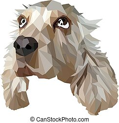 Vector illustration of Dog in Low Poly Style