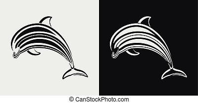 Dolphin icon  - Vector Illustration of Dolphin icon