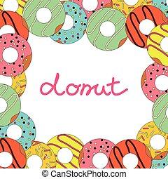 Vector illustration of donut on white background