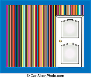 Vector illustration of door and col